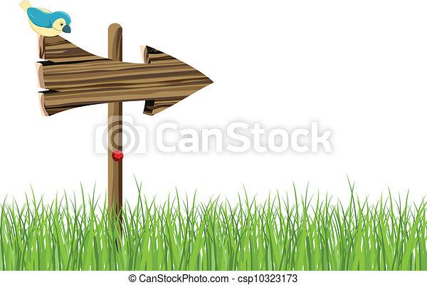 Wooden signboard - csp10323173