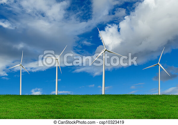 Wind Turbines, environment concept - csp10323419