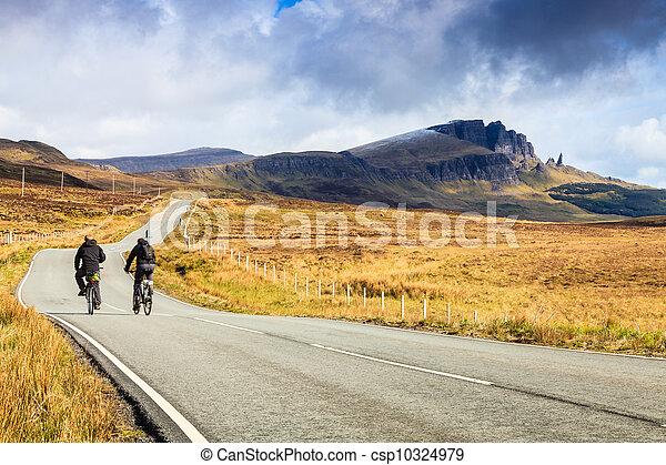 有关骑自行车的人, 高速公路