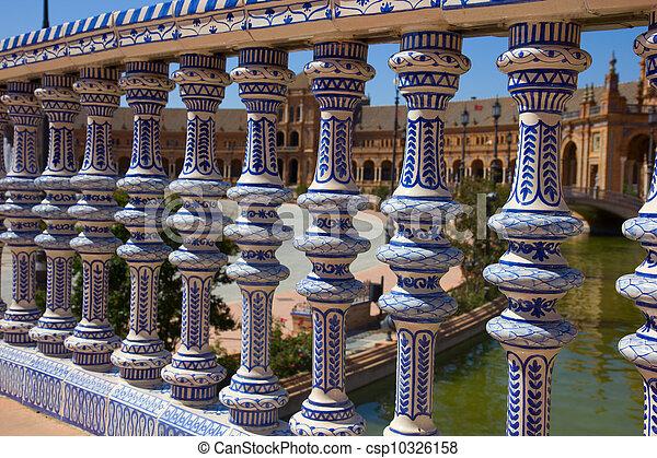 details of Plaza de España, Seville, Spain - csp10326158
