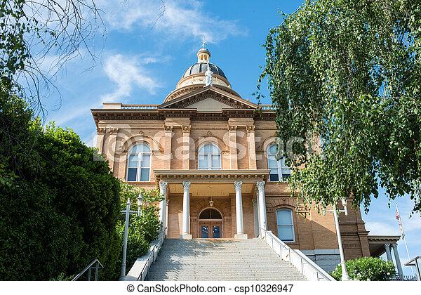 歴史的, 裁判所, 赤褐色 - csp10326947