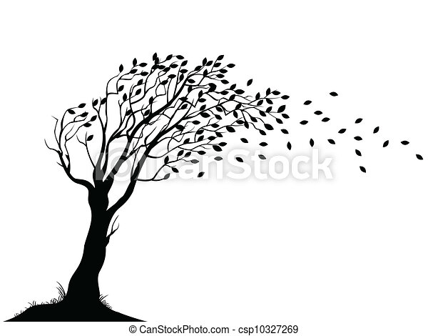 Autumn Tree Silhouette 10327269 on Wood Home Designs