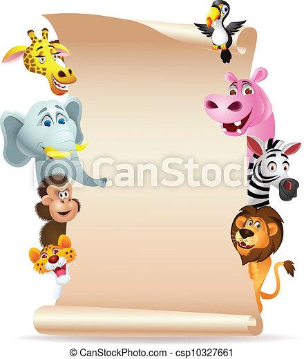 动物, 卡通漫画, 空白