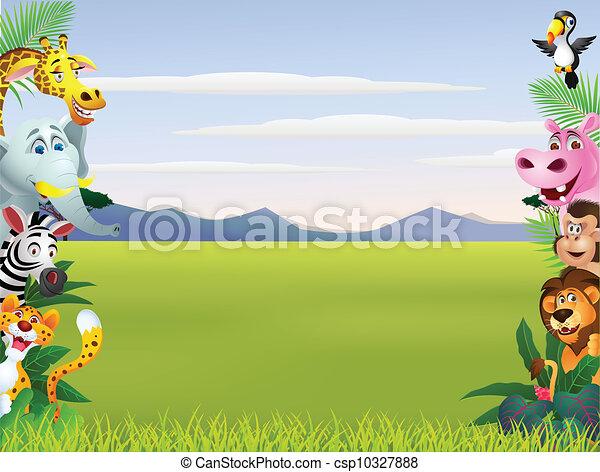 Animal cartoon  - csp10327888
