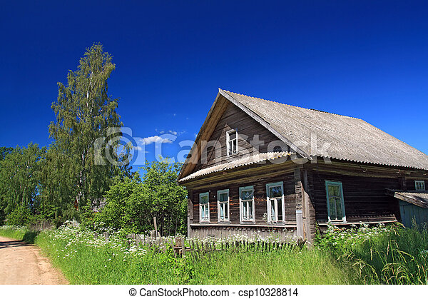 rural house near sandy road - csp10328814