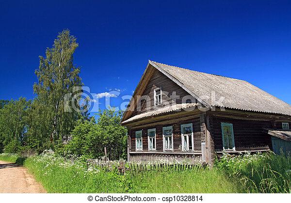 rural house near sandy road - csp10328814