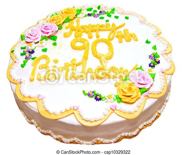 Birthday cake for senior citizen - csp10329322