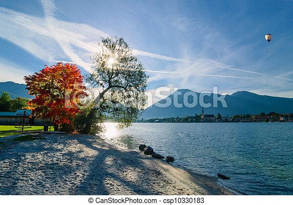 Beautiful morning on lake - csp10330183