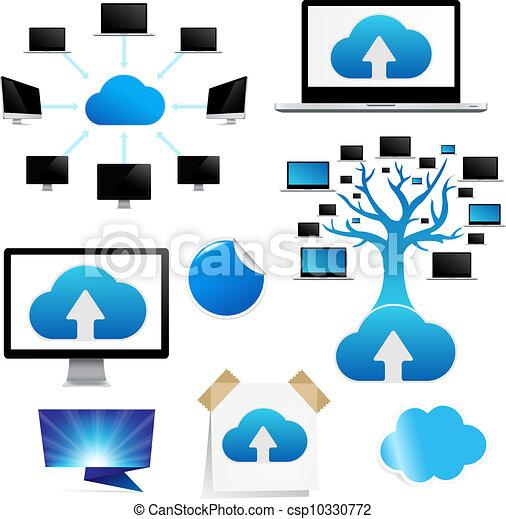 Set Reminder With Cloud Computing Icon - csp10330772