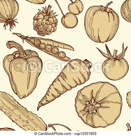Seamless background with vegetables - csp10331903