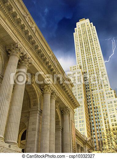 Architecture of New York - Manhattan - csp10332327