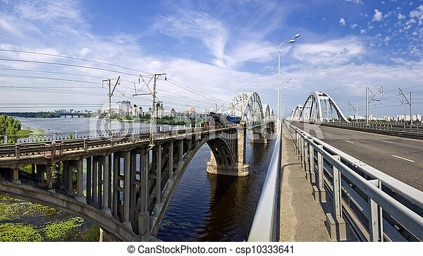 Bridges over the Dnieper River - csp10333641