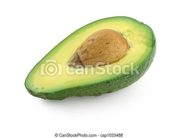 half of avocado fruit - csp1033488