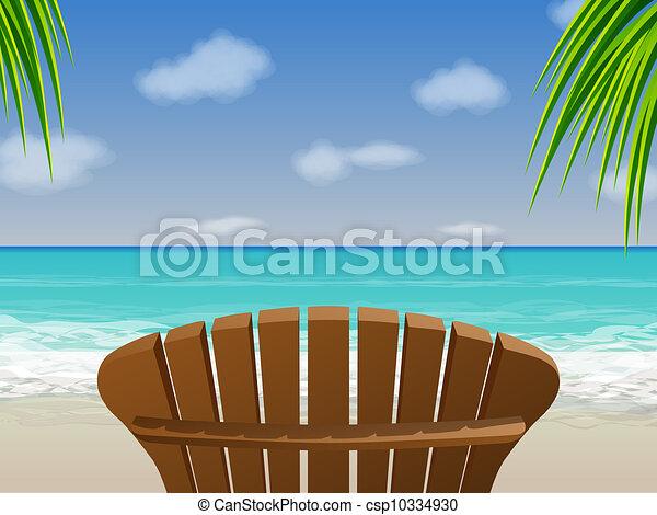 Adirondack Beach Chair Clip Art Adirondack beach chair -