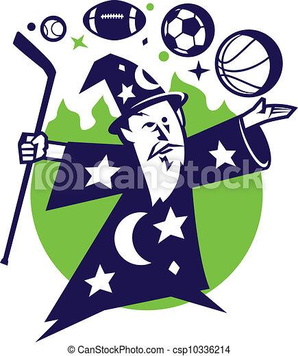 Fantasy Sports Wizard - csp10336214