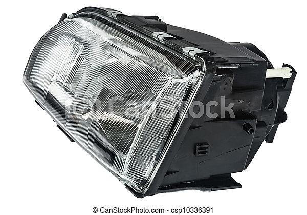 automobile headlight - csp10336391