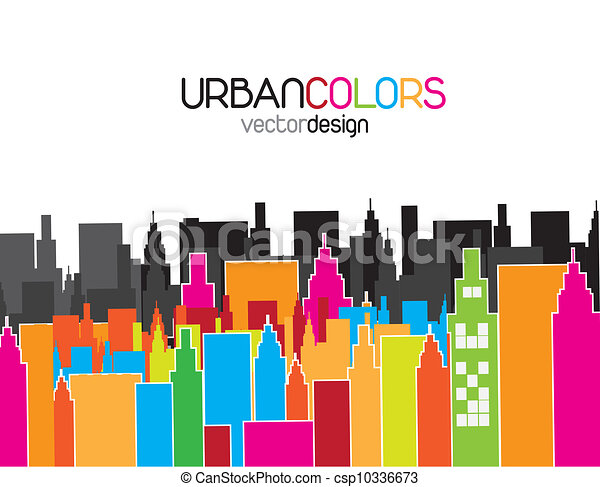 illustrations vectoris es de urbain couleurs ville. Black Bedroom Furniture Sets. Home Design Ideas