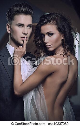Beauty women and handsome men - csp10337060