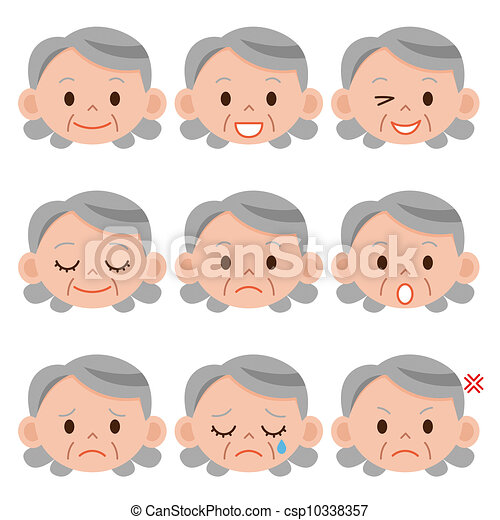 Illustrations of Grandmother expression csp10338357 - Search Clipart ...