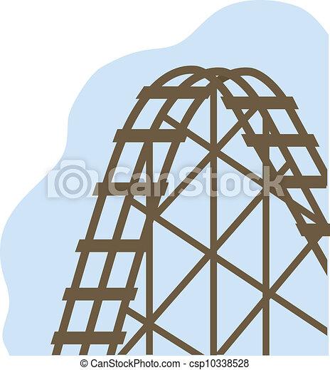 A roller coaster - csp10338528