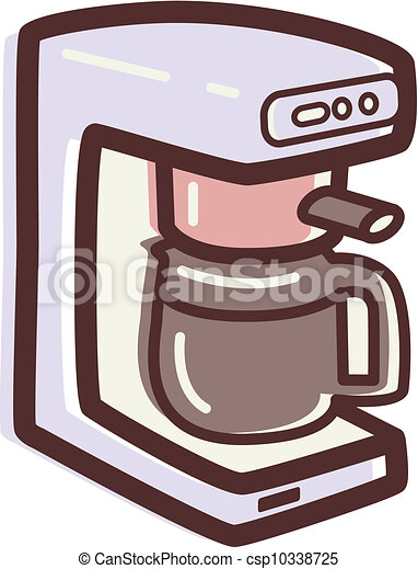 Clip Art of Illustration of a coffee maker csp10338725 ...
