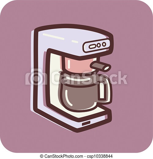 Drawing of Illustration of a coffee maker on a purple background csp10338844 - Search Clip Art ...