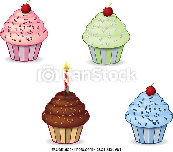 Cupcake Clipart Cute Cute Cupcakes Csp10338961