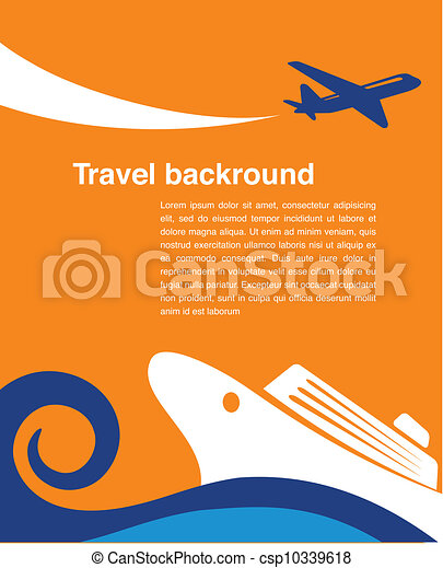 Travel background - cruise and airplane - csp10339618