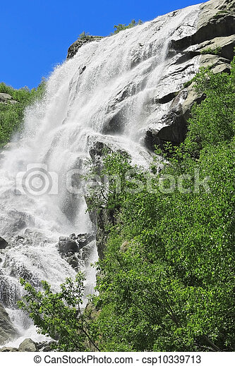 Alibek waterfall. Dombay mountains. The Northern Caucas - csp10339713