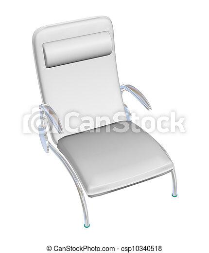 Clipart de reposer cuir salon chaise 3d illustration for Chaise 3d dessin