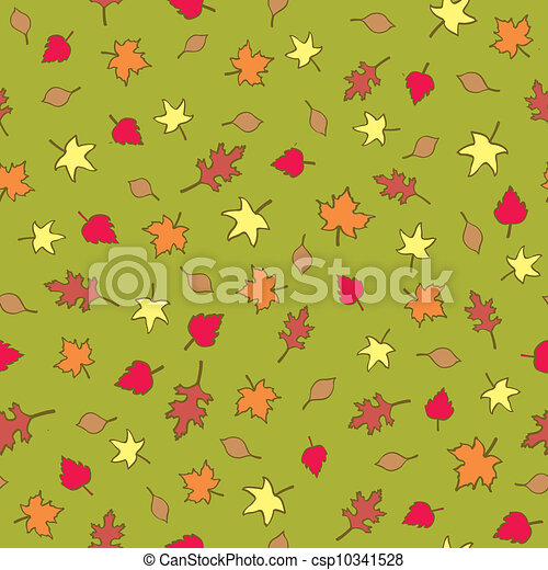 Seamless Fall Leaves - csp10341528