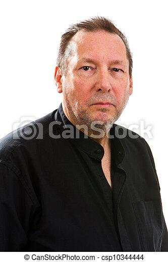 Serious Elderly Man - csp10344444