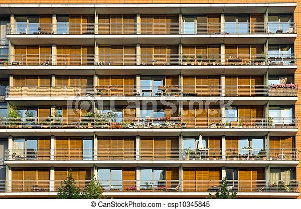 Modern Apartment Building Facade