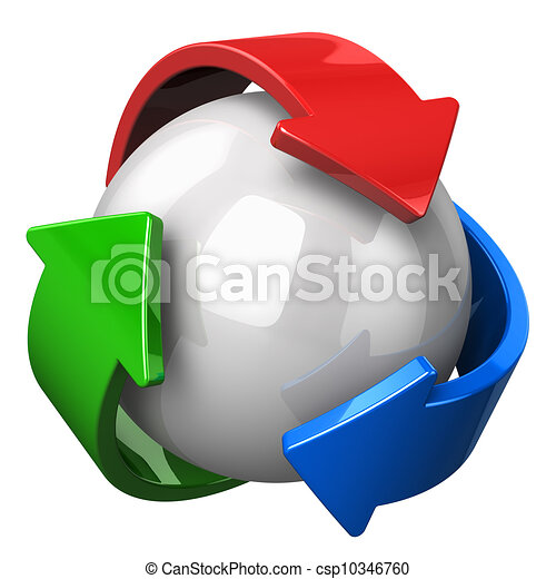 Abstract recycling symbol - csp10346760