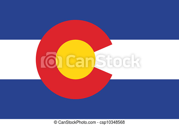 Vector Colorado flag - csp10348568