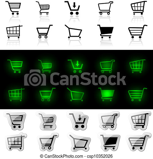 Shopping Cart Sign - csp10352026