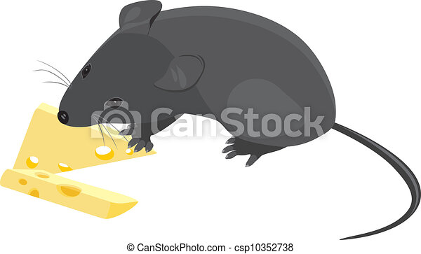 Vectors of field mouse with pieces of cheese vector for Field mouse cartoon