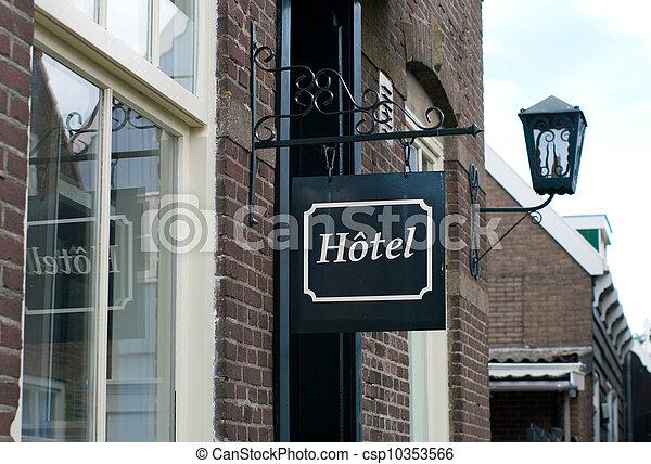 hotel sign - csp10353566