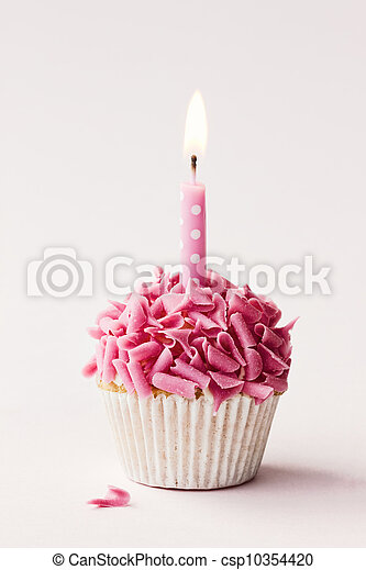Birthday cupcake - csp10354420