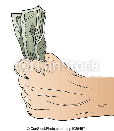 手, 握住, 美国人, 钱 - csp10354571