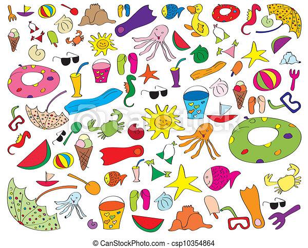 Kids Stuff Logo Vector Summer Kids Stuff