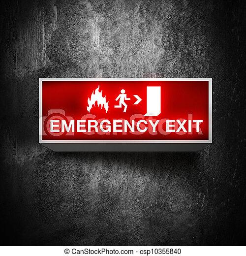 出口, 緊急事件, 簽署 - csp10355840