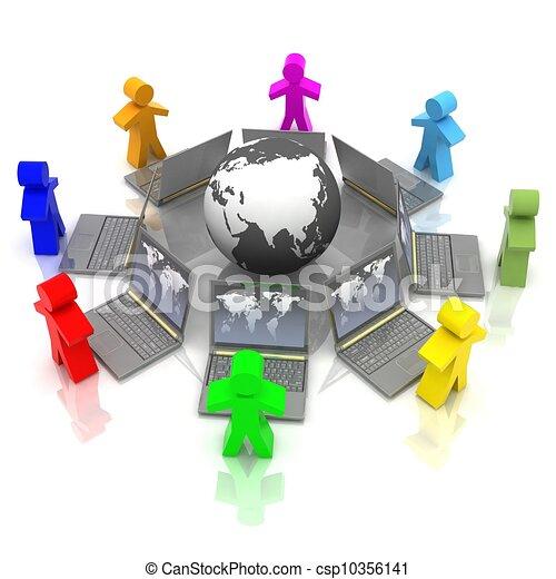 online training concept - csp10356141
