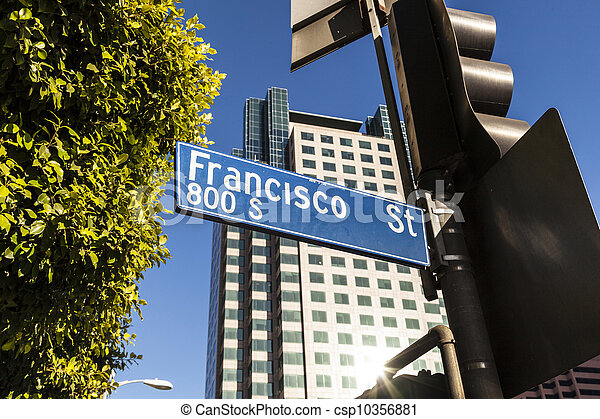 street sign Francisco street in Hollywood - csp10356881