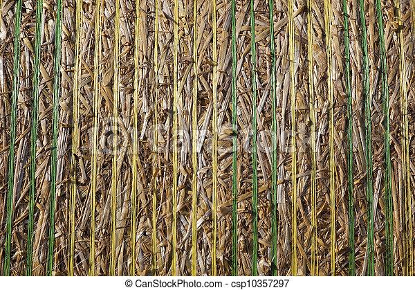 straw bale close up - csp10357297
