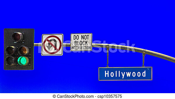 street sign Hollywood Boulevard in Hollywood - csp10357575