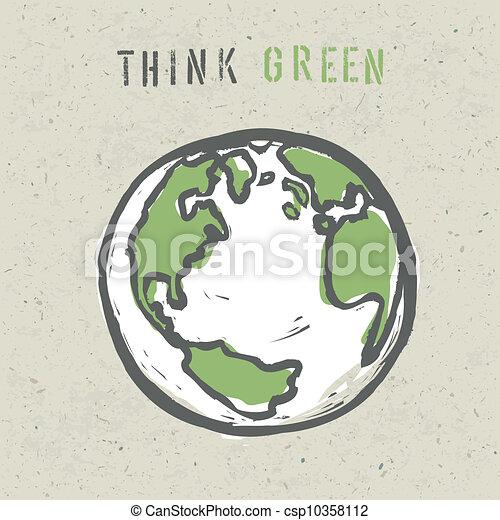 Think Green Logo Think Green Poster Design
