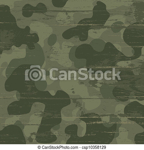 Camouflage military background. Vector illustration, EPS10 - csp10358129