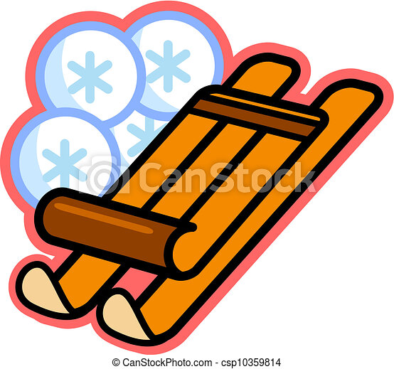 clipart of illustration of a wooden sled and snowflakes snow clip art images snow clip art moving
