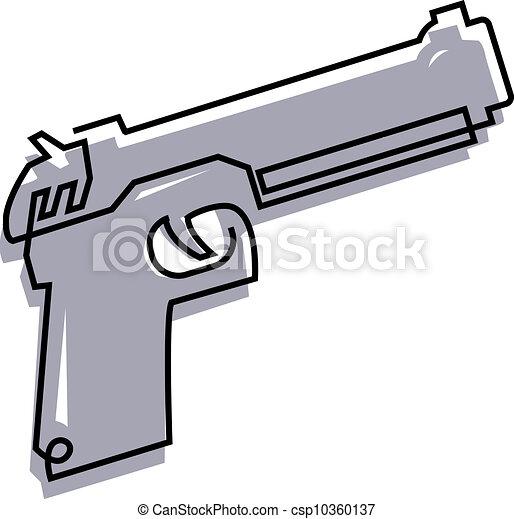 Rysunek, pistolet ręczny - csp10360137